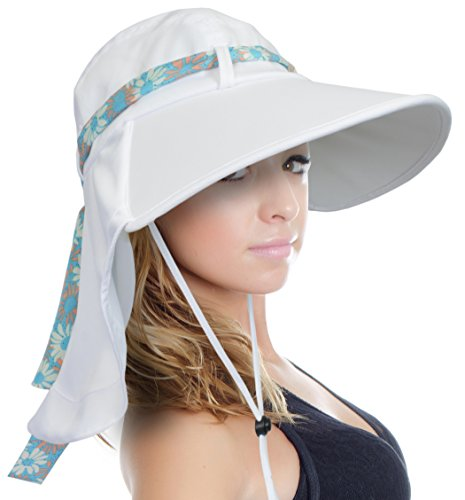 f6b26dda Adjustable & breathable: adjustable chin cord holds hat in place even in  windy or rainy conditions. Make you more charming and adorable in summer!