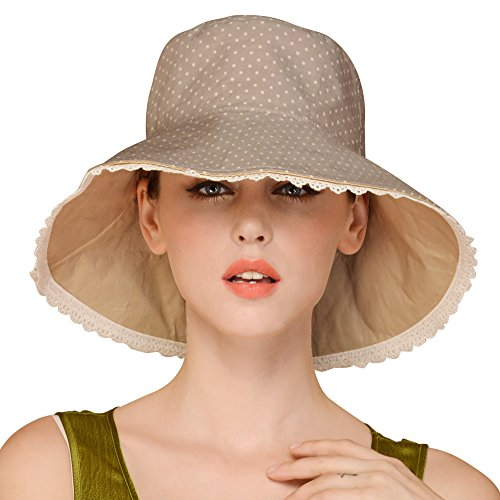 6237fca72f2 Erigaray UPF50+ Sun Shade Hats For Womens Summer Outdoor Wide Brim Beach Hat  Foldable