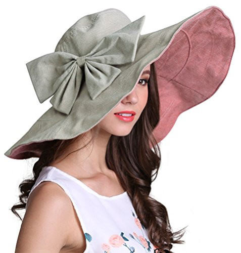 393f4af6eaaf5e Bienvenu Women's Lady's Large Bowknot Wide Brim Beach Sun Hat, Pink. Perfect  summer accessory! Each hat is made out of UPF 50+ materials ...